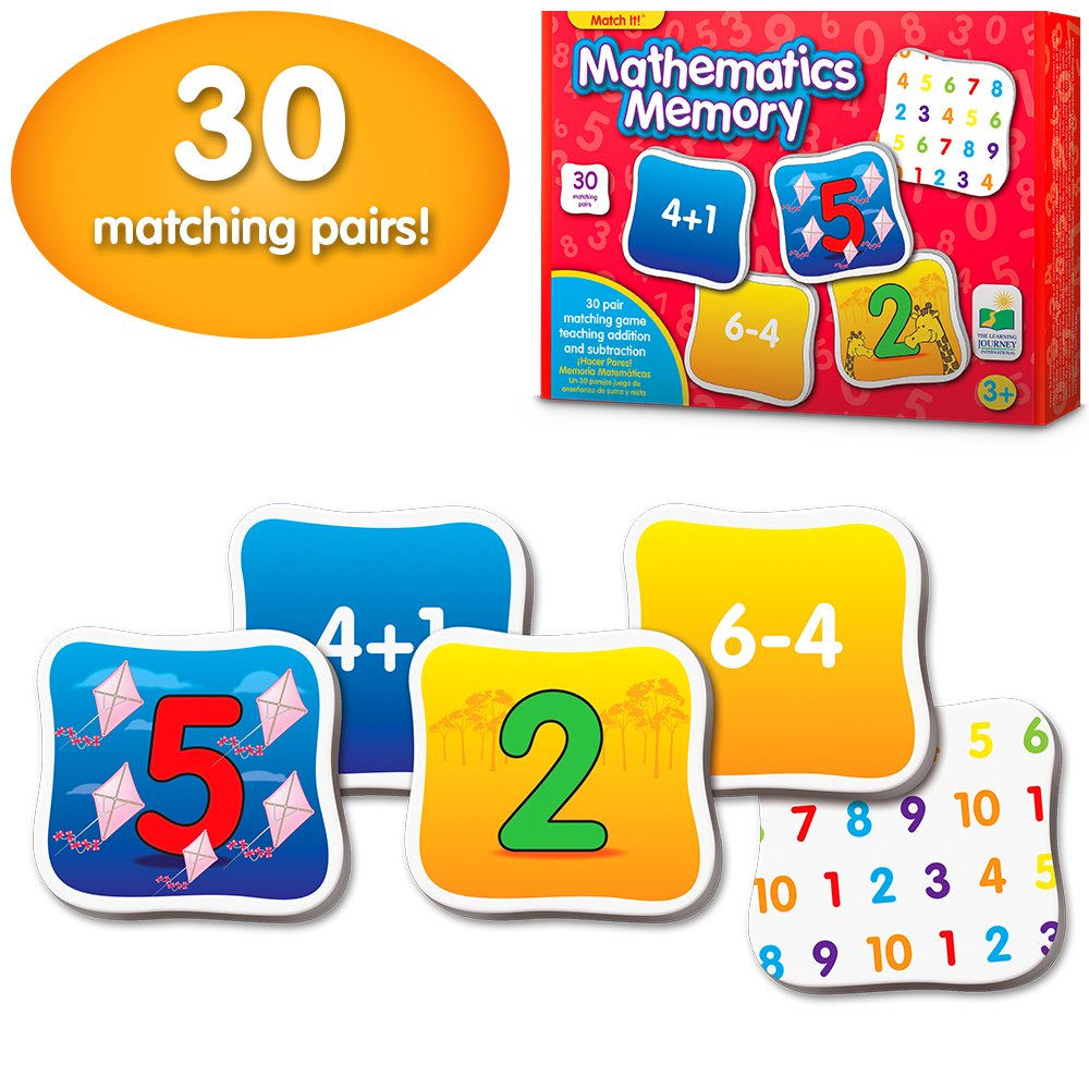 The Learning Journey: Match It! Memory - Mathematics - STEM Addition and Subtraction Game Helps to Teach Early Math Facts 30 Matching Pairs