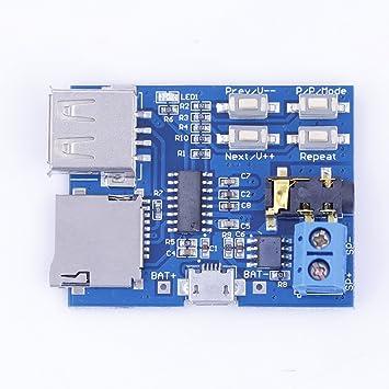 In Design; Top 5 Stücke Gpd2846a Tf Karte Mp3 Decoder Board 2 Watt Verstärker Modul Novel