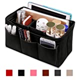 Hokeeper Felt Purse Insert Organizer, Handbag Organizer, Bag in Bag, Diaper Bag Organizer, Stand on Its Own,12 Compartments, 3 Sizes, 6 Colors