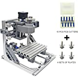 Wisamic DIY CNC Router Kits 1610 GRBL Control Wood Carving Milling Engraving Machine for Plastic, Wood, Acrylic, PVC, PCB with 3 Axis Working Area 160x100x45mm
