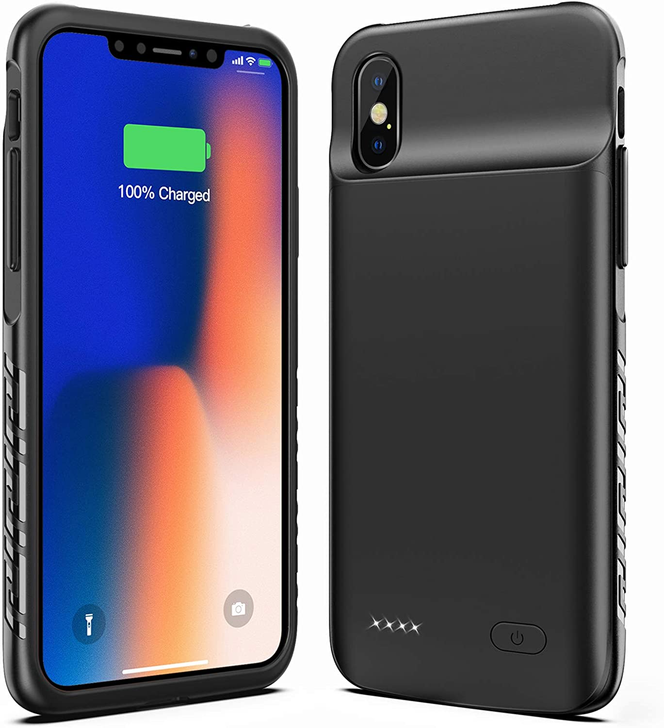 Amazon Com New Version Swaller Battery Case For Iphone X Xs 10 4000mah Slim Portable Charging Case Protective Rechargeable Charger Case Extended Battery Compatible With Iphone X Xs 10 5 8 Inch Black