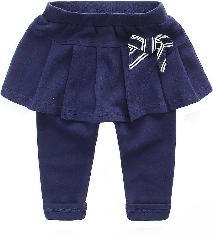 Leggings Pantalones con Faldas De Bebé niñas Stretch cálido ...
