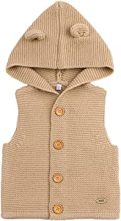 MMX Baby Infant Hooded Sweater Sleeveless Cardigan Button Up Jacket