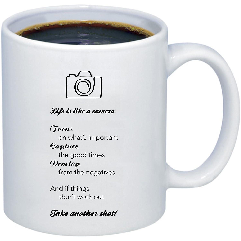 Life is like a Camera Kaffee Tasse   Kamera Kaffee Tasse   Fotografie Geschenk Holmes Stamp & Sign