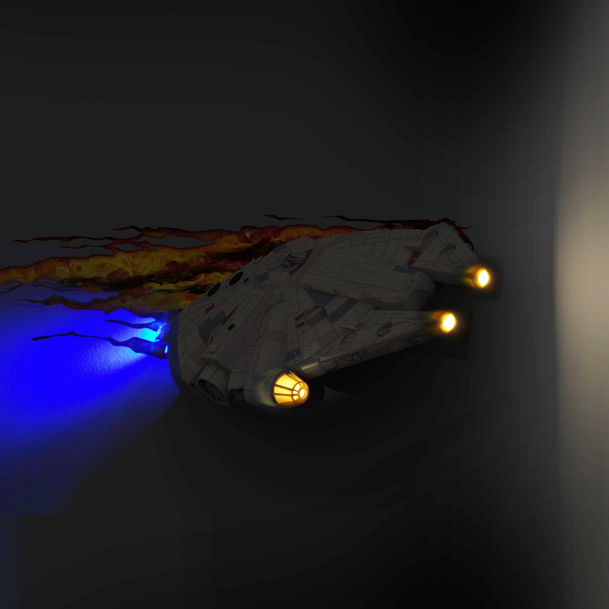3DLightFX Star Wars Millennium Falcon 3D Deco Light by 3D light FX (Image #3)