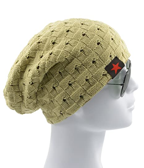 d27469e670c Century Star Mens Winter Warm Knitting Hats Stars Wool Baggy Slouchy Beanie  Daily Fashion Skull Cap