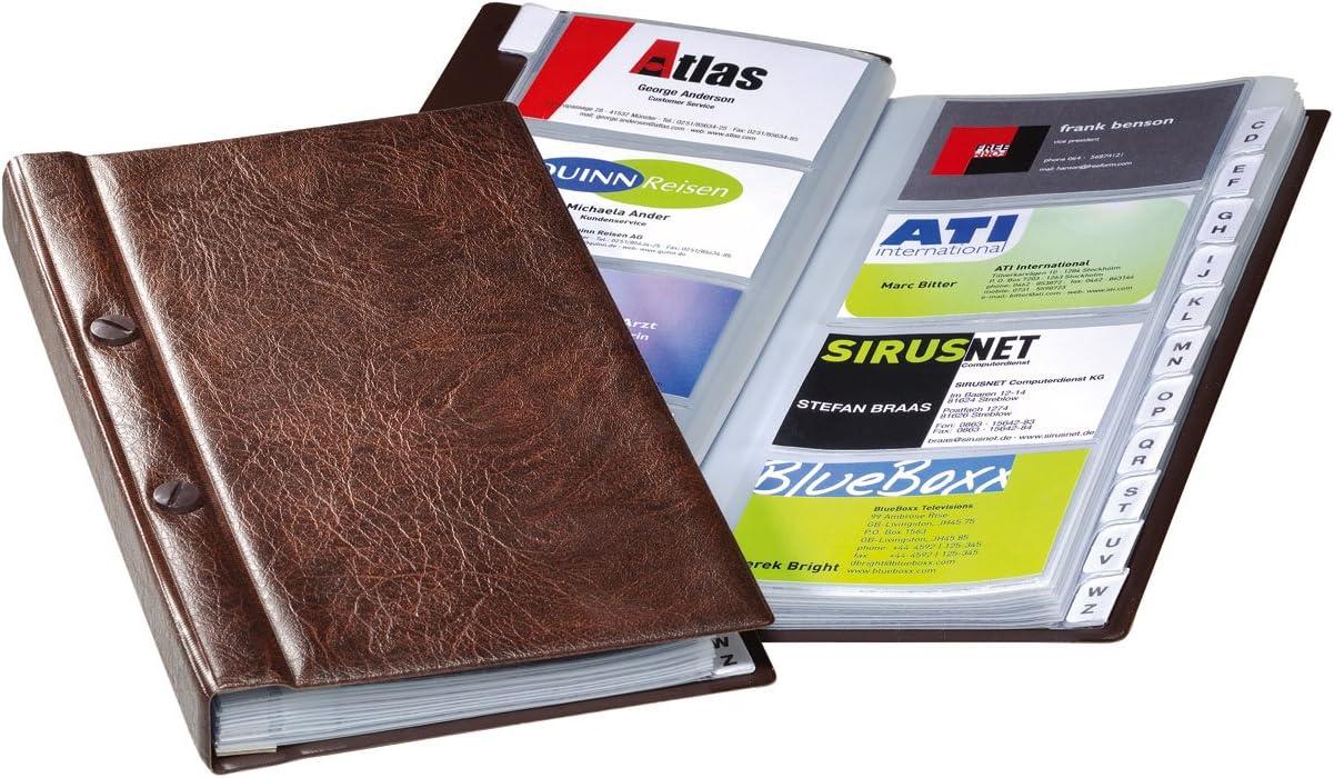 Tarjetero para 200 tarjetas de visita con /índice color marr/ón Durable VISIFIX 238211