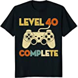 Level 40 Complete 40th Birthday Funny T-Shirt