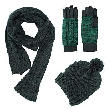 ae71cf247f6 Knit Hat Scarf Glove Set