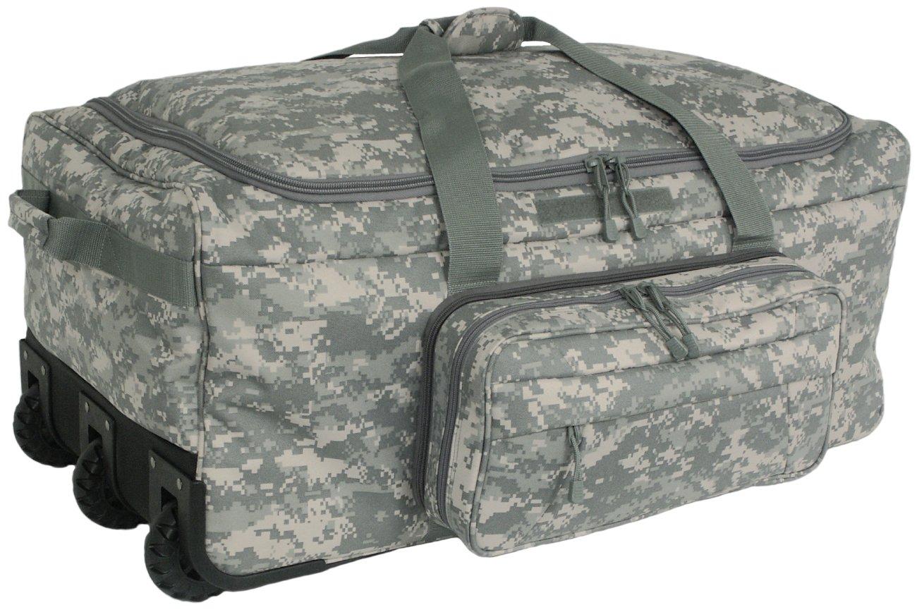 Mercury Tactical Gear Code Alpha Mini Monster Wheeled Deployment Bag, Digital Camouflage, Combat Camo
