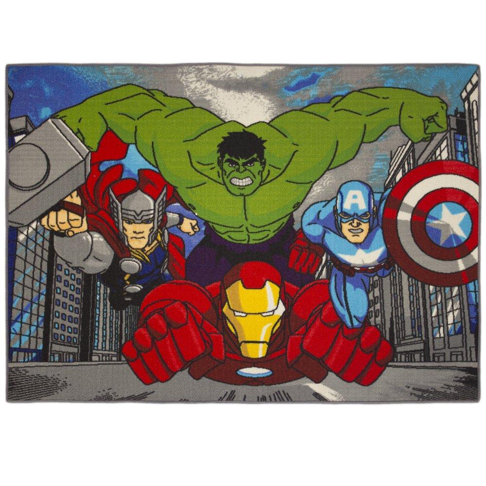 Tapis Avengers City Marvel Bebegavroche