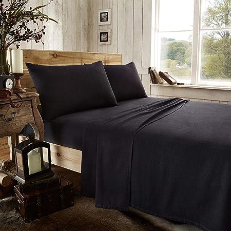 Novali - Juego de sábanas de franela para cama de lujo, 100 ...
