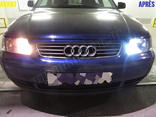 Pack de bombillas LED de color blanco xenón para Audi A3 8L: Amazon.es: Coche y moto