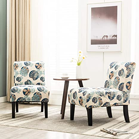 Miraculous Amazon Com Altrobene Modern Armless Accent Slipper Chairs Gamerscity Chair Design For Home Gamerscityorg
