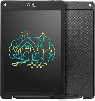 LCDライティングタブレット、パーシャルイレージャとカラフルな画面のデジタルEwriter電子グラフィックタブレットポータブルライティングボード、キッズ大人のホームスクールオフィスに最適