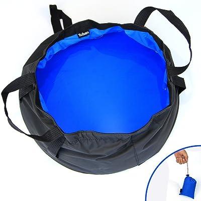 Sac de stockage d'eau Pamase 8.5L Portable Wash Basin Outdoor Seau-Pliant pour Camping Randonnée avec étui