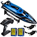 Hongxunjie RC Racing Boat with Double Batteries and Charger Cables