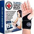Doctor Developed Copper Wrist Brace / Carpal Tunnel Wrist Brace / Wrist Support / Wrist Splint / Hand Brace / Night Support for Women & Men -Registered Class I Medical Device & Doctor Written Handbook - Right & Left hands (Single)