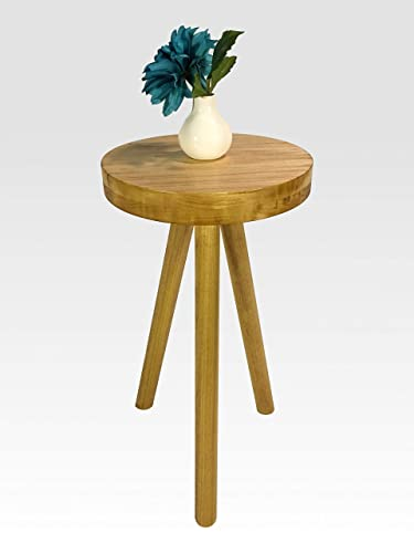 Remarkable Amazon Com Modern Side Table In Honey By Candlewood Theyellowbook Wood Chair Design Ideas Theyellowbookinfo