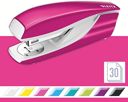 LEITZ Heftgerät Hefter Tacker Nexxt WOW 5502 pink-metallic
