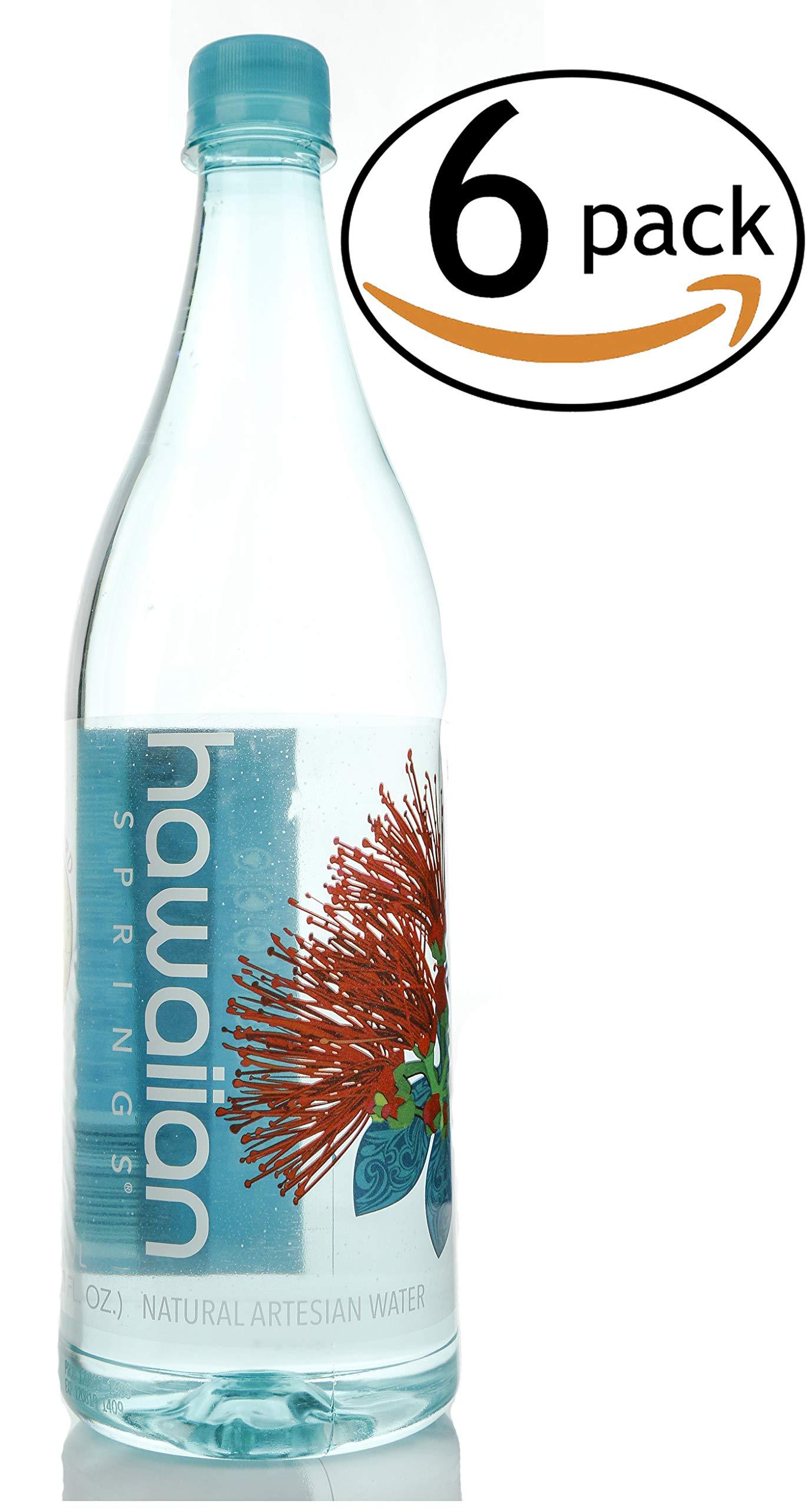 Hawaiian Springs Natural Artesian Water Bottled at the Source in Hawaii (1.0 L, 6 Pack) by Hawaiian Springs