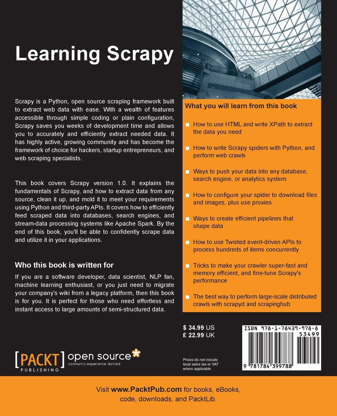 Learning Scrapy: Learn the art of effi cient web scraping