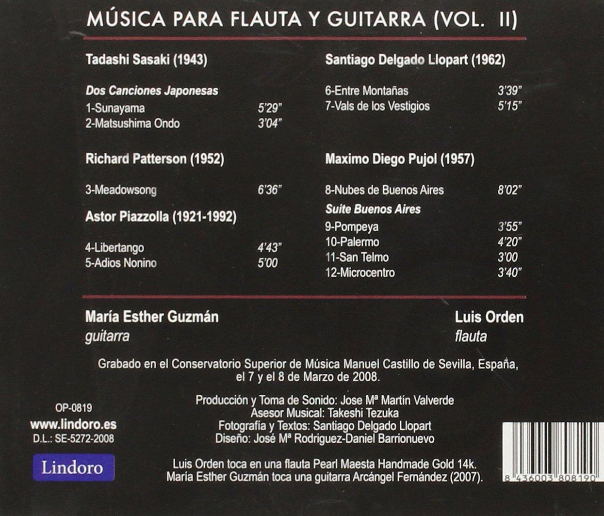 Musica Para Flauta & Guitarra Vol. Ii: Guzman; Orden, Varios ...