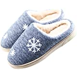 JACKSHIBO Unisex Anti-slip Home Cotton Slippers Open Back Flat Slippers Cute Warm Shoes For Women