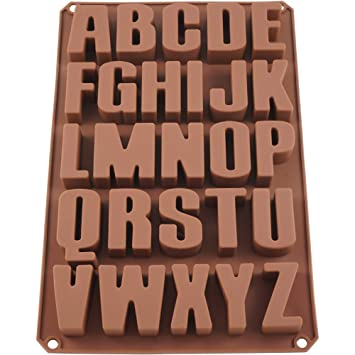 Seifenprofis 26 Buchstaben Extra Stabil Silikonform Seifenform Backform Schokoladenform 34 22 5 2 5cm