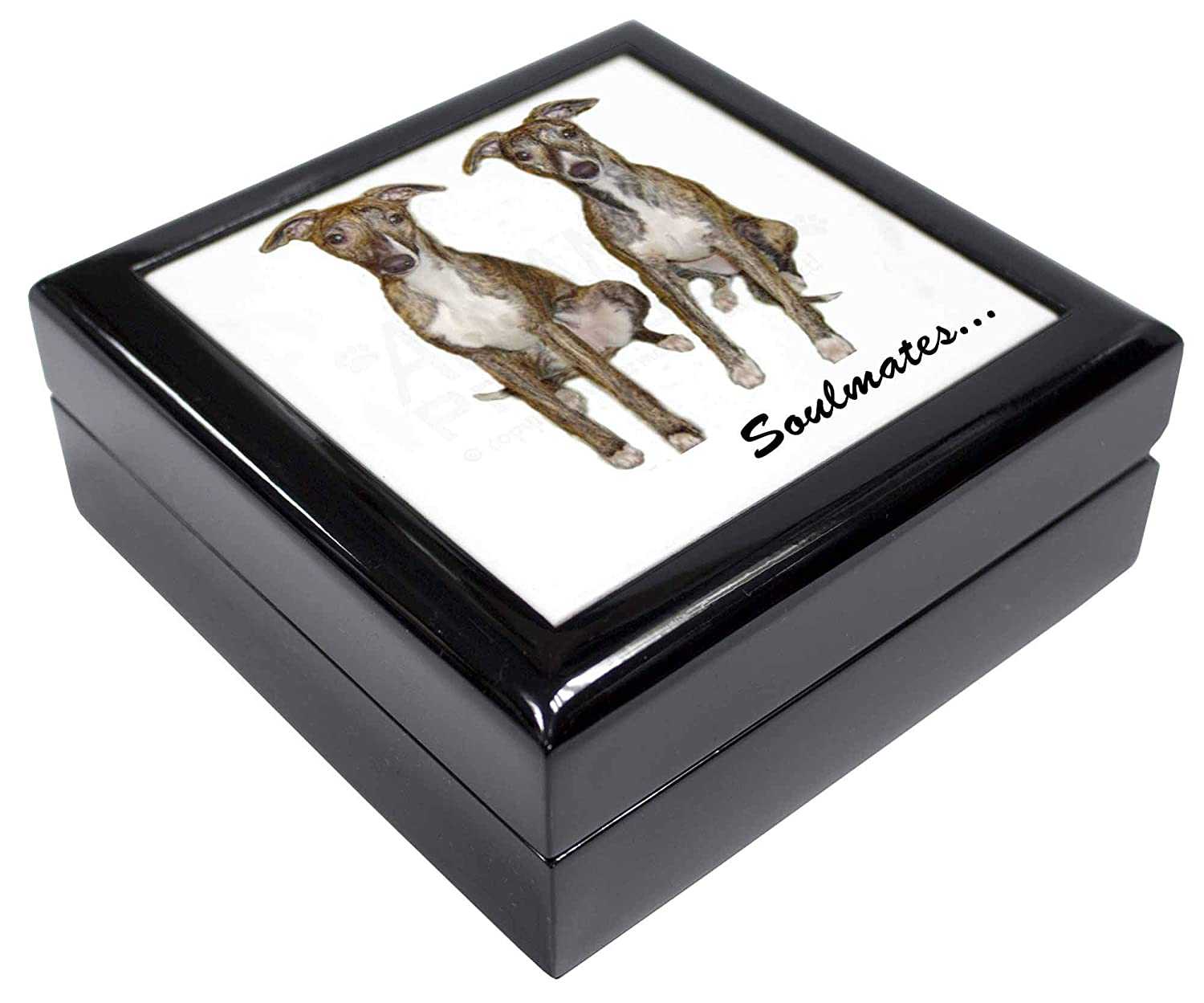 Whippet Dogs /'Soulmates/' Keepsake//Jewellery Box Christmas Gift SOUL-65JB