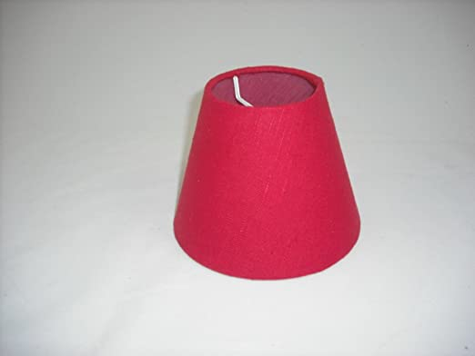 5 Pantalla para lámpara de mesa hecha a mano pequeña - Rojo ...
