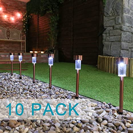 Genial ElementDigital Solar Path Lights Outdoor Garden Post Lights LED Lighting  Stainless Steel Solar Powered LED Pathway