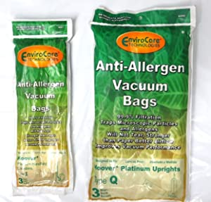 EnviroCare Replacement Allergen Vacuum Bags for Hoover Type Q and Type I Bundle. 6 bags total