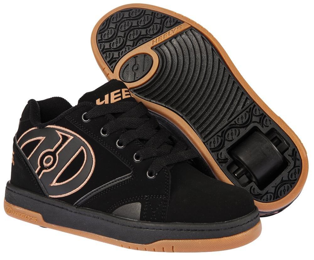 Heelys Propel 2.0 One Wheel Skating Shoe (Black/Gum, 3 UK)