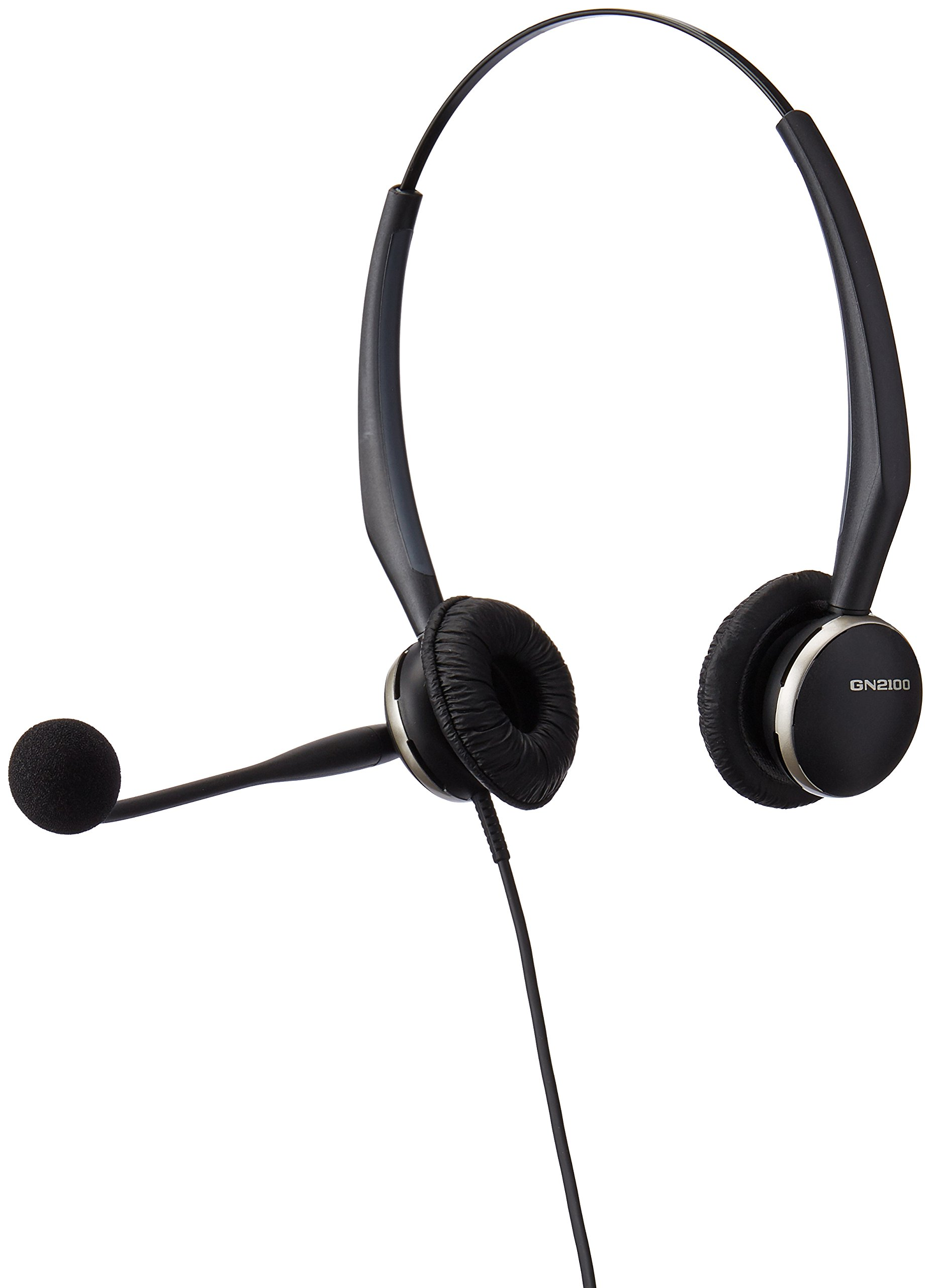 Jabra GN2125 Duo  Corded Quick Disconnect Headset for Deskphone, Softphone or Mobile Phone