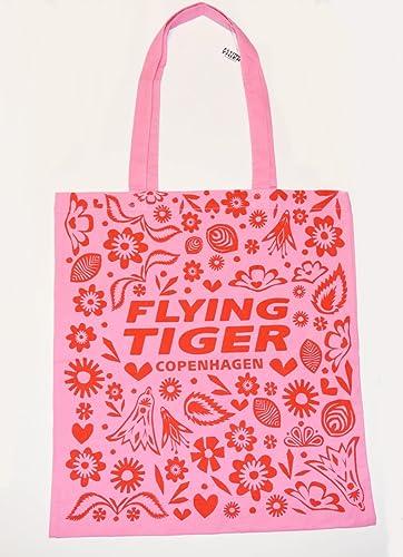 ショッピングバッグ(ピンク x レッド) Flying Tiger Copenhagen (フライング タイガー コペンハーゲン)