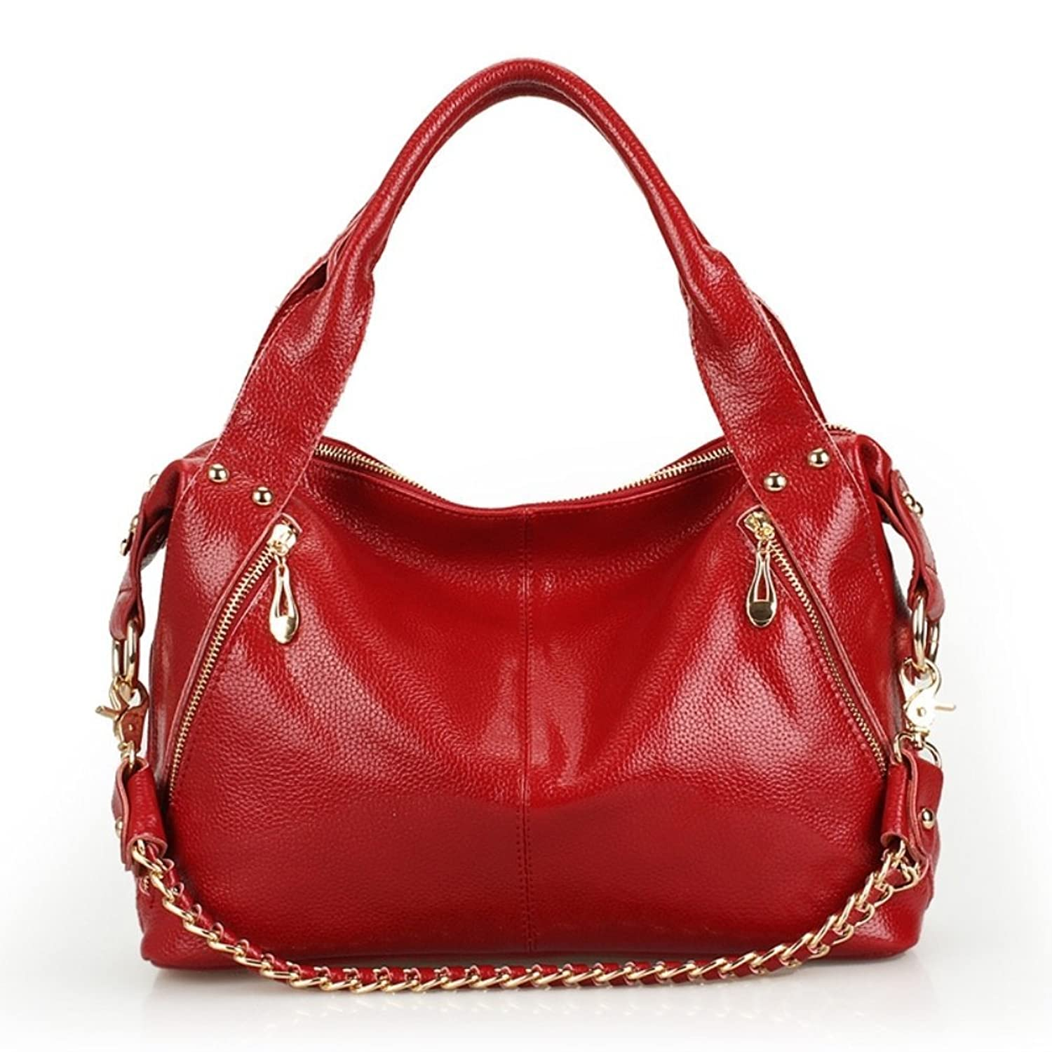 PPSTAR HB700096 Fashion Genuine Leather Europe Women's Handbag,Dumplings Type Dumplings