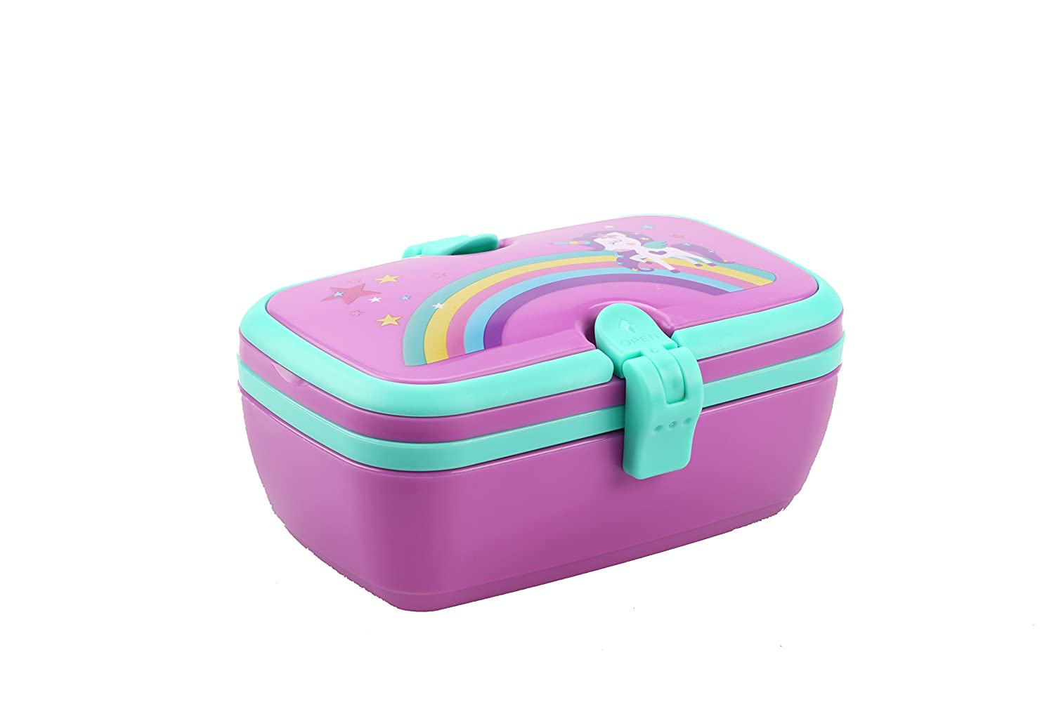 Smily Kiddos Fantasy Lunch Box | Lunchbox for Kids | Tiffin Box for School/Picnic/Travel Purpose | Unicorn Tiffin Box (Purple)