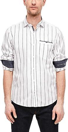 Camisa de rayas con lino de s. Oliver Red Label para hombre.: Amazon.es: Ropa y accesorios