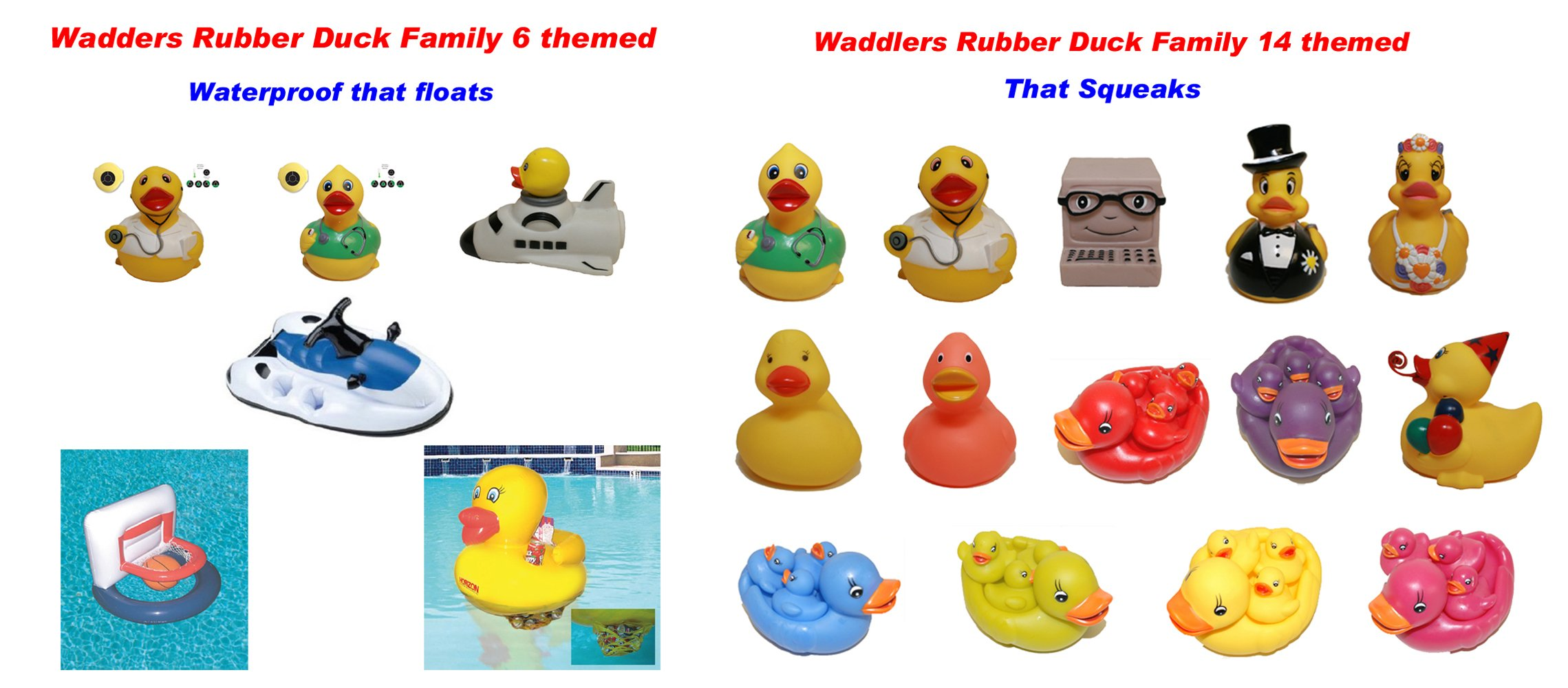 Hockey Rubber Ducks , Waddlers Brand, Bulk Pack 6,12,24,48,96 Pcs., Bath Rubber Toy Ducky Birthday Gift-all Depts. Hockey Player Deluxe Gift QTY (96) by Waddlers (Image #5)