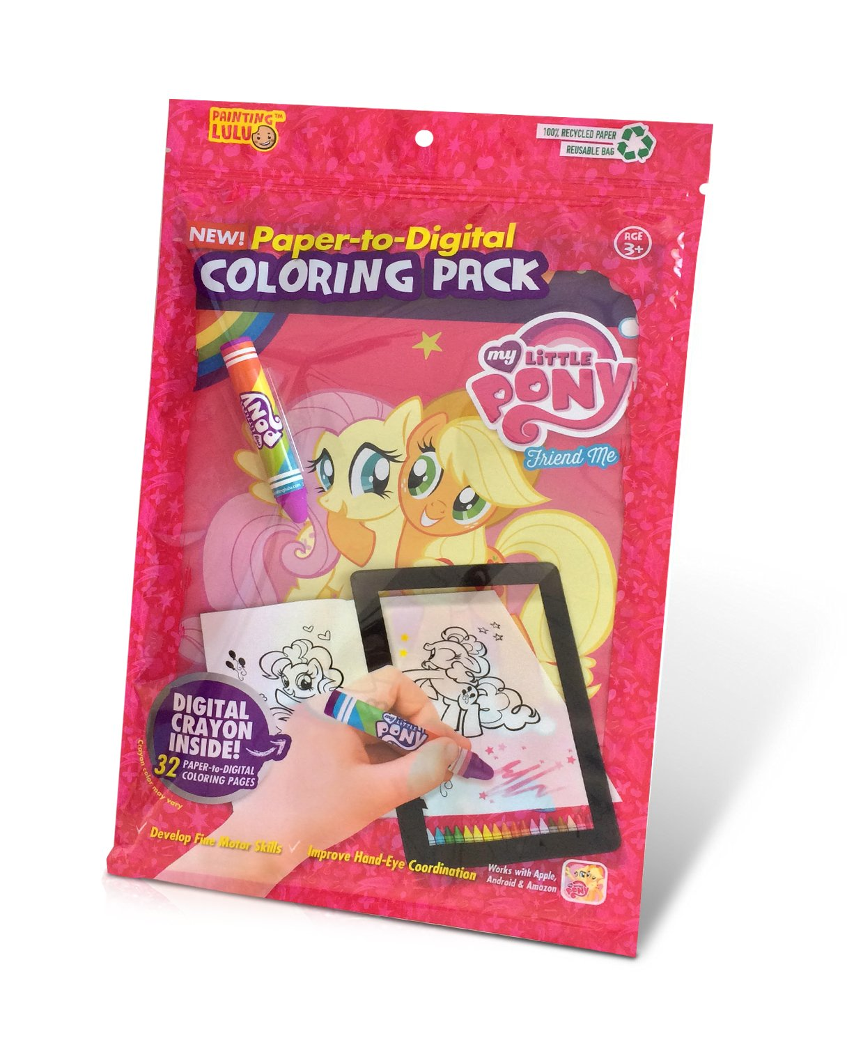 Buy My Little Pony Coloring Book Pack 32 Paper To Digital Pages With Crayon Stylus App Online At Low Prices In India