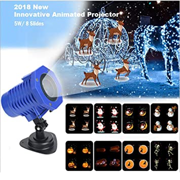 Proyector Navidad LED Impermeable Paisaje Spotlight Lámpara Efecto ...