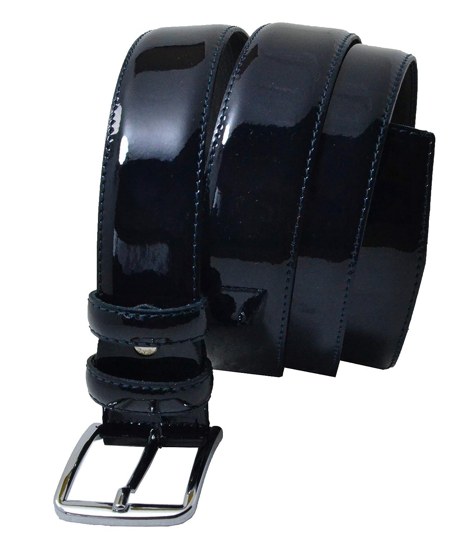 Elegante Con Scatola Regalo Fatta a Mano Cintura In Vera Pelle In Vernice Lucida Made in Italy Uomo e Donna Conte Massimo