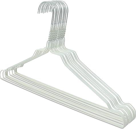 Drahtbügel Silber 2,3mm verzinkt mit Einkerbung 100 Metall Draht Kleiderbügel
