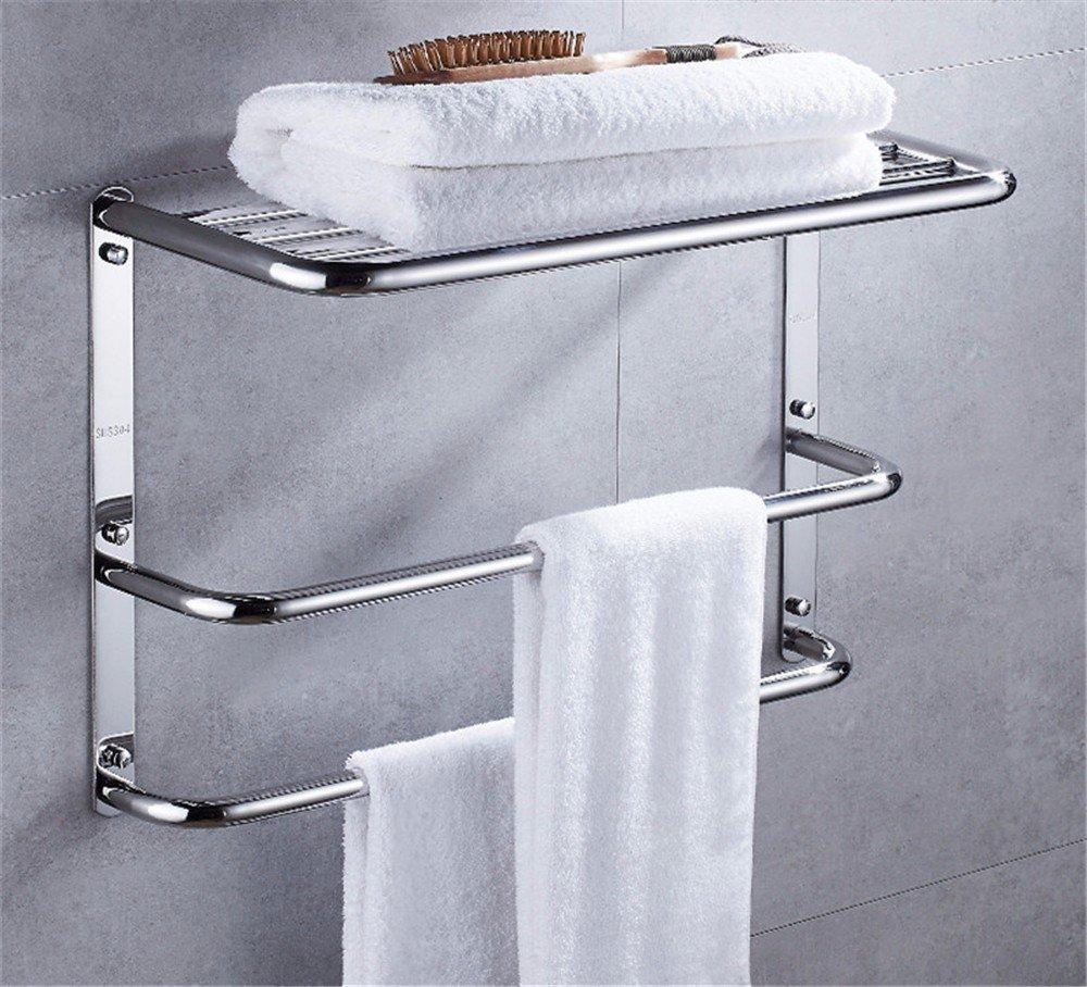 HOMEE European Style Bathroom Stainless Steel Towel Rack Toilet Three Layer Rack Pendant,60cm by HOMEE