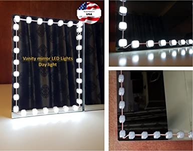 led lights for vanity mirror. Hollywood Style Vanity Mirror Lights Makeup Anti Glare  Luxurious LED for Amazon com