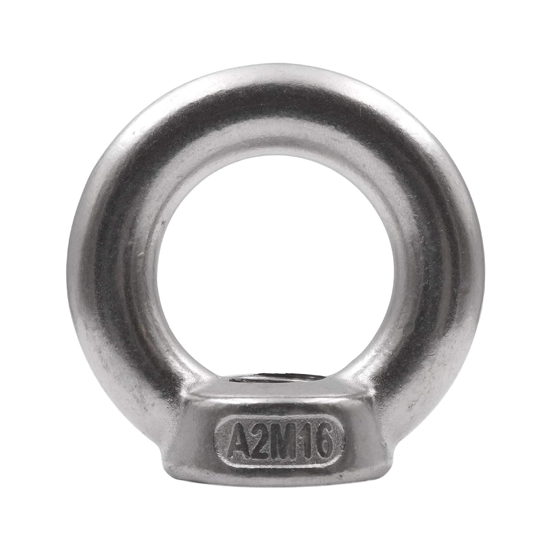 5 Stü ck Ringmutter DIN 582 Edelstahl V2A Ö senmutter Metrisch M6 M8 M10 M12 rostfrei A2 - Augenmutter (M6) S+P