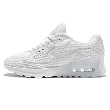 sale retailer 0d6f9 fca2d Nike Womens W Air Max 90 Ultra BR White Pure Platinum Mesh Size 10