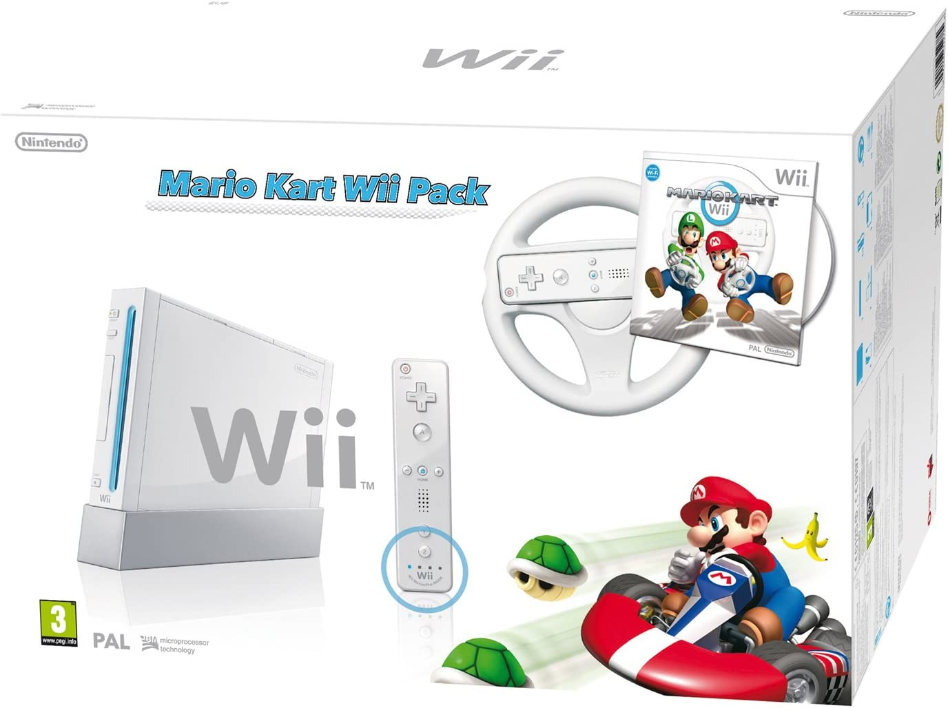 Wii Blanca + Wii Mario Kart + Volante + Mando Remote Plus Blanco + ...
