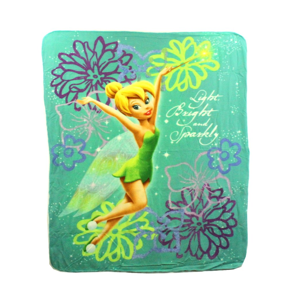 The Northwest Company Tinkerbell Sparkly Fleece Character Blanket 50 x 60-inches